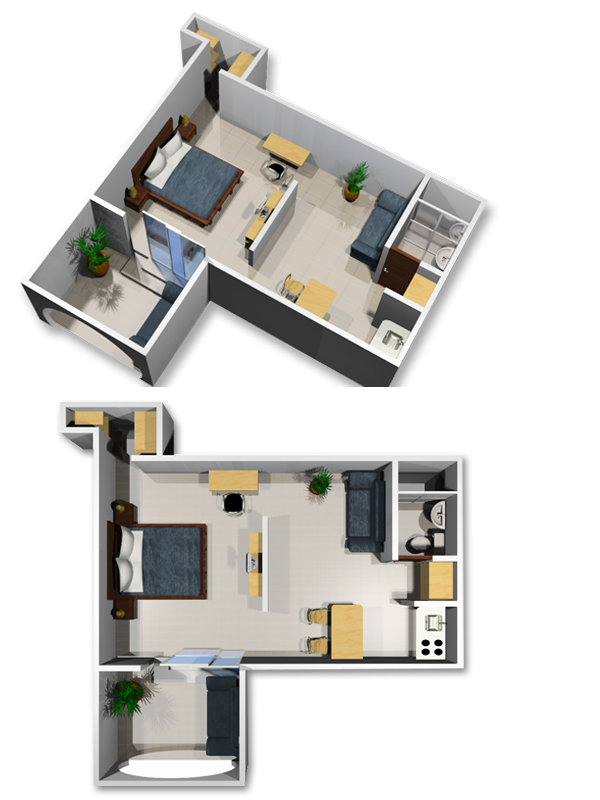 Modern furnished apartments in Cali - Colombia - Apartment 101