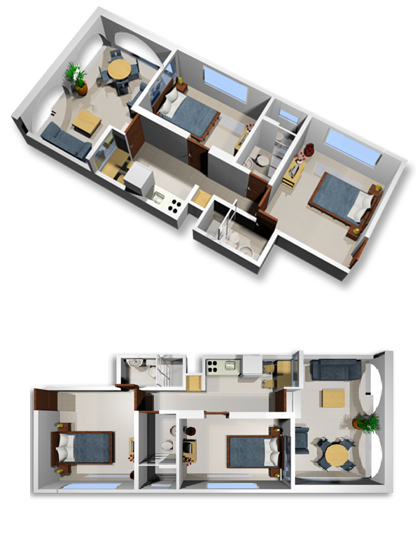 Modern furnished apartments in Cali - Colombia - Apartment 102