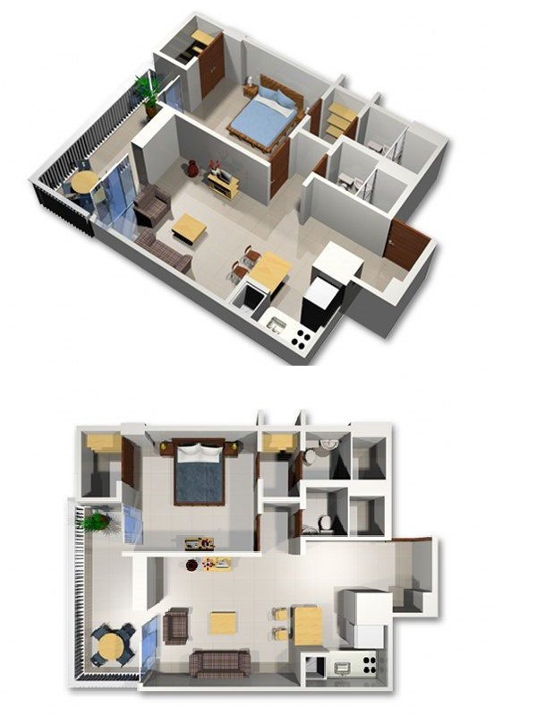 Modern furnished apartments in Cali - Colombia - Apartment 1202