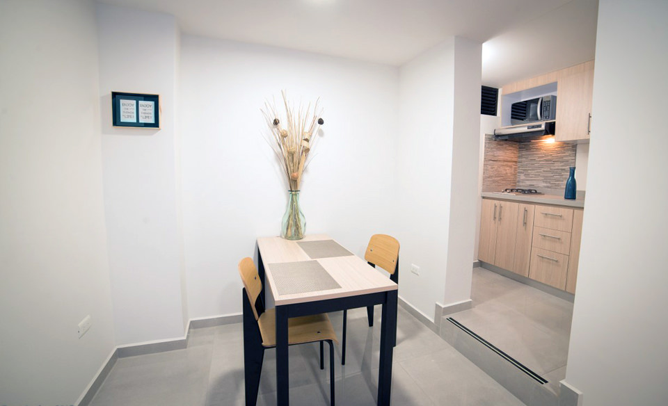Aparta studios for rent in safe zones in Cali - Colombia. - Apartment 201